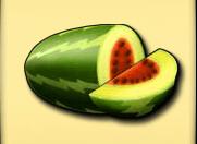 Melone und Erdbeeren