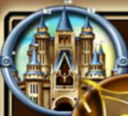 Burg, Schild, Schwert und Helm