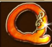 Die Kartensymbole A, K, Q und J
