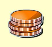 Die Münzen und die Taschenuhr
