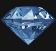 Hellblaue Diamanten