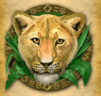 Löwin, Affe