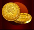 Goldmünze und Adler