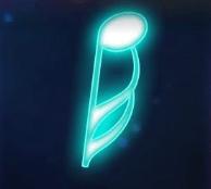 Blau Sechzehntelnote