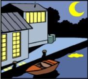 The Pontoons at Night