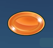 Orangener Drop