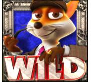 Fuchs vor blauem Hintergrund