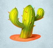 Hellgrüner Kaktus