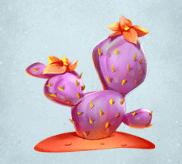 Lila Kaktus