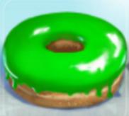 Grüner Donut