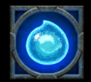 Rabenkugel blau