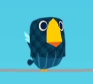 Dunkelblauer Vogel
