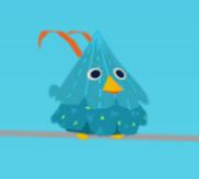 Hellblauer Vogel
