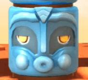 Blaue Totem-Maske