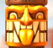 Gelbe Totem-Maske