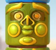 Grüne Totem-Maske