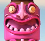 Pinke Totem-Maske