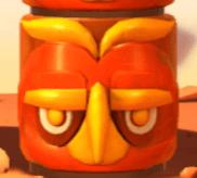 Rote Totem-Maske