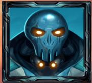 Blauer Alien