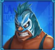 Blauer Wrestler
