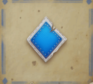 Blaues Karo-Symbol