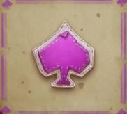 Lilafarbenes Pik-Symbol