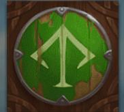 Grünes Schild