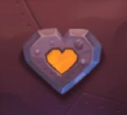 Oranges Herz